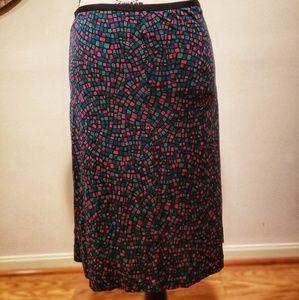 Diane von Furstenberg Midi Skirt w/Colorful Design